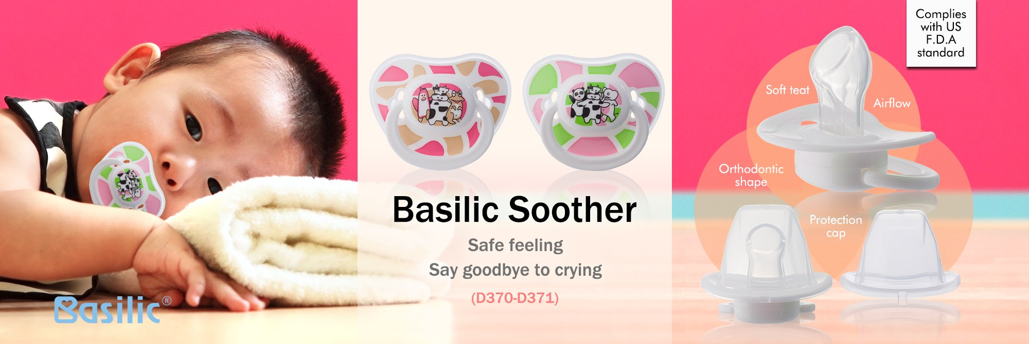 Basilic soother- orthodontic shape (D370-D371)