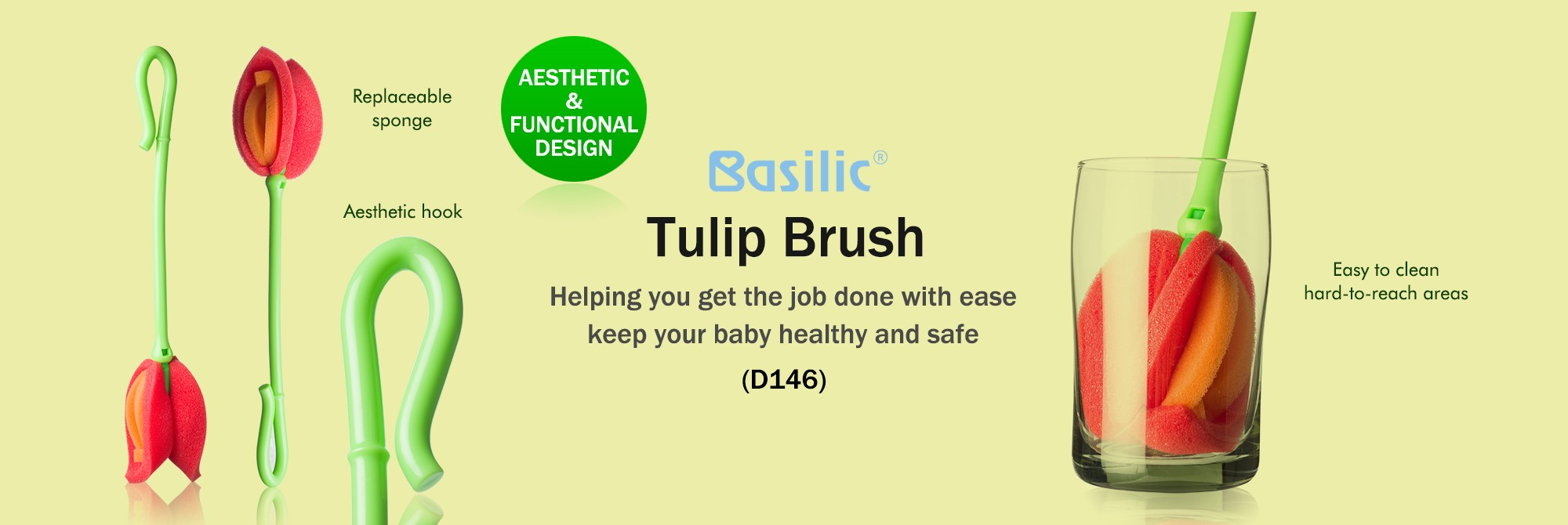 Basilic tulip brush (D146)